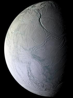 Saturn's Moon Enceladus by Stocktrek Images
