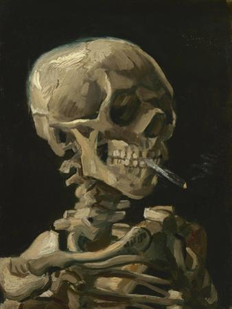 Skull of a Skeleton with Burning Cigarette Painting by Vincent Van Gogh, 1886 by Stocktrek Images