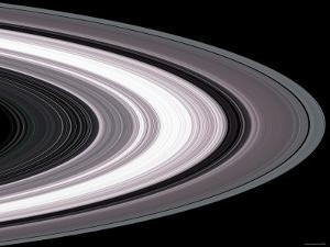 Small Particles in Saturn'S Rings by Stocktrek Images