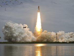 Space Shuttle Atlantis Lifts Off from the Kennedy Space Center, Florida by Stocktrek Images