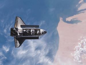 Space Shuttle Edeavour as Seen from the International Space Station, August 10, 2007 by Stocktrek Images