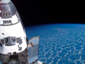 Space Shuttle Edeavour as Seen from the International Space Station by Stocktrek Images