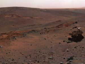 Spirit Mars Exploration Rover on the Flank of Husband Hill by Stocktrek Images
