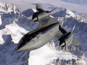 SR-71B Blackbird in Flight by Stocktrek Images