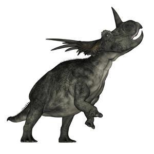 Styracosaurus Dinosaur Roaring by Stocktrek Images