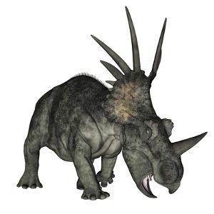 Styracosaurus Dinosaur by Stocktrek Images