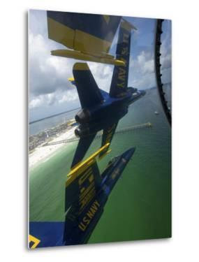 The Blue Angels Perform the Diamond 360 Maneuver Over Florida by Stocktrek Images
