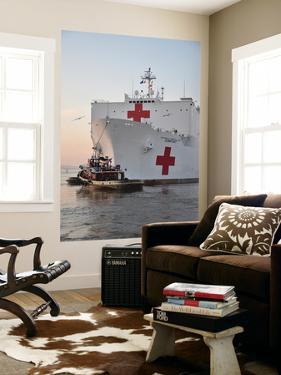 The Hospital Ship Usns Comfort Departs for Deployment by Stocktrek Images