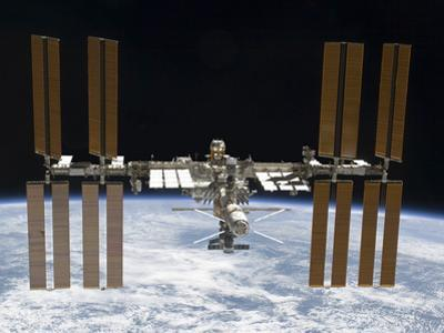 The International Space Station in Orbit Above Earth