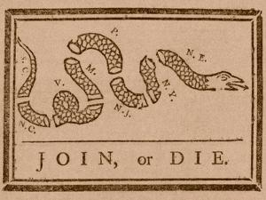 The Join Or Die Print Was a Political Cartoon Created by Benjamin Franklin by Stocktrek Images