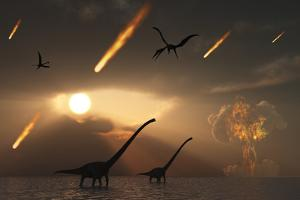The Last Days of Dinosaurs Caused by a Giant Asteroid Impact by Stocktrek Images