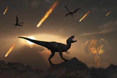 The Last Days of Dinosaurs During the Cretaceous Period by Stocktrek Images