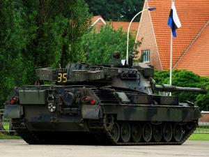 The Leopard 1A5 MBT of the Belgian Army in Action by Stocktrek Images