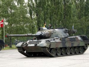 The Leopard 1A5 of the Belgian Army in Action by Stocktrek Images