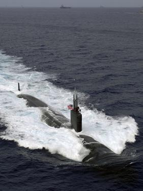 The Los Angeles-class Attack Submarine USS Asheville by Stocktrek Images