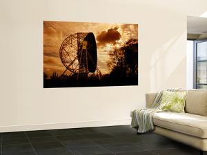 The Lovell Telescope at Jodrell Bank Observatory in Cheshire, England by Stocktrek Images