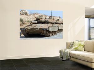 The Merkava Mark IV Main Battle Tank of the Israel Defense Force by Stocktrek Images