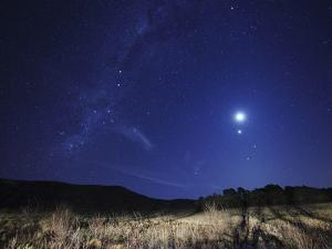 The Moon, Venus, Mars and Spica in a Quadruple Conjunction by Stocktrek Images