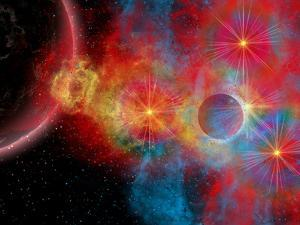 The Remains of a Supernova Give Birth to New Stars by Stocktrek Images