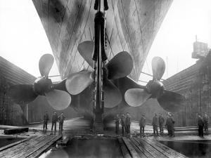 The Rms Titanic's Propellers as the Mighty Ship Sits in Dry Dock by Stocktrek Images