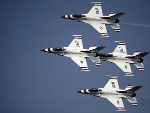 The U.S. Air Force Thunderbird Demonstration Team by Stocktrek Images