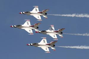 The U.S. Air Force Thunderbirds Fly in Formation by Stocktrek Images