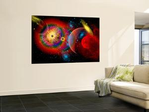 The Universe in a Perpetual State of Chaos by Stocktrek Images