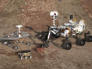 Three Generations of Mars Rovers by Stocktrek Images