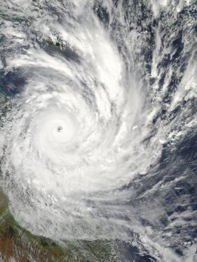 Tropical Cyclone Yasi over Australia by Stocktrek Images