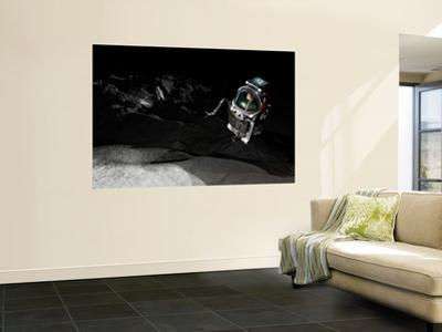 Two Manned Maneuvering Vehicles Explore the Airless, Microgravity Environment of a Small Asteroid by Stocktrek Images