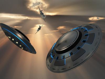 UFO's and Fighter Planes in the Skies over Roswell, New Mexico