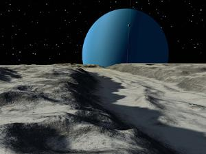Uranus Seen from the Surface of its Moon, Ariel by Stocktrek Images