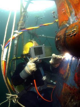 US Navy Diver by Stocktrek Images