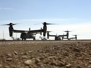 V-22 Osprey Tiltrotor Aircraft Arrive at Camp Bastion, Afghanistan by Stocktrek Images