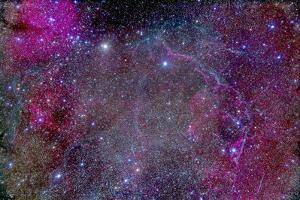 Vela Supernova Remnant in the Center of the Gum Nebula Area of Vela by Stocktrek Images