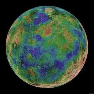 Venus Centered on the South Pole by Stocktrek Images