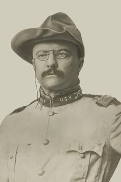 Vintage American History Print of Colonel Theodore Roosevelt by Stocktrek Images