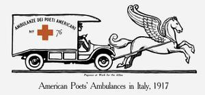 Vintage World War I Poster of an Ambulance Being Pulled by Pegasus by Stocktrek Images