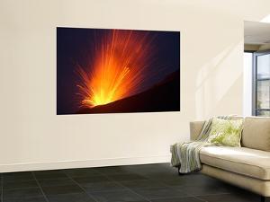 Vulcanian Eruption of Anak Krakatau Volcano, Sunda Strait, Java, Indonesia by Stocktrek Images