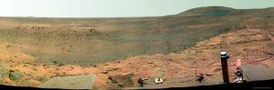 Westward View of Mars, False Color by Stocktrek Images