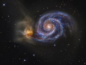 Whirlpool Galaxy by Stocktrek Images