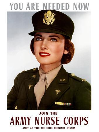 World War II Poster of a Smiling Female Officer of the U.S. Army Medical Corps by Stocktrek Images