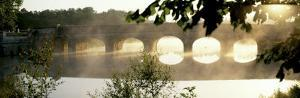 Stone Bridge in Fog, Loire Valley, France