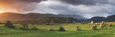 Stone Circle on a Hill, Castlerigg Stone Circle, Keswick, English Lake District, Cumbria, England