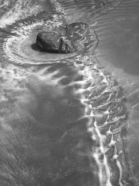 Stone in Sea Water in Porbandar