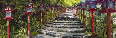 Stone Paved Approach for a Shrine, Kibune Shrine, Kyoto Prefecture, Japan
