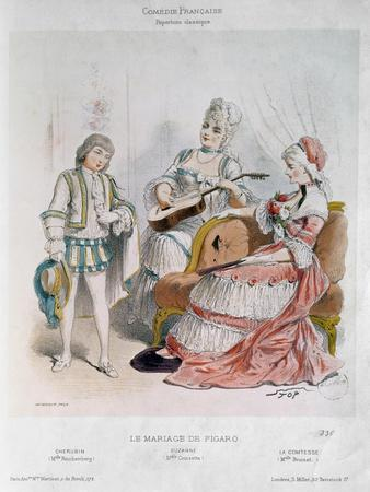 Cherubin, Suzanne and the Countess in The Marriage of Figaro Pierre-Augustin Caron de Beaumarchais