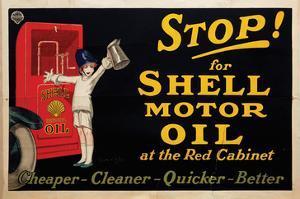 Stop for Shell Motor Oil