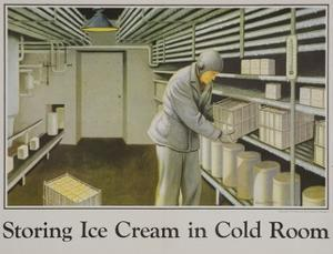 Storing Ice Cream in Cold Room Poster
