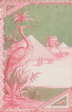 Stork with Egyptian Themes